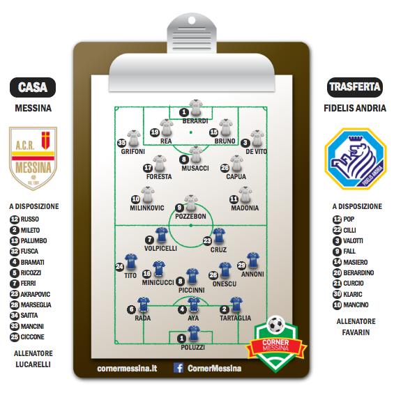 Pre partita Messina-Fidelis Andria